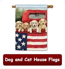 Dog and Cat House Flags