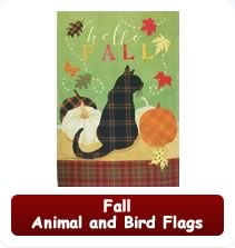 Fall Animal and Bird Flags