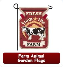 Farm Animal Garden Flags