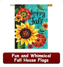 Fun and Whimsical Fall House Flags