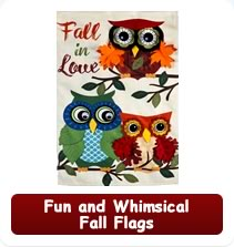 Fun and Whimsical Fall Garden Flags