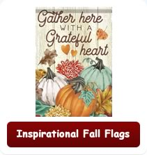 Decorative Inspirational Fall Flags
