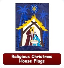 Religious Christmas House Flags