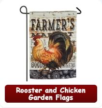 Rooster and Chicken Garden Flags