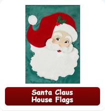 Santa Claus House Flags