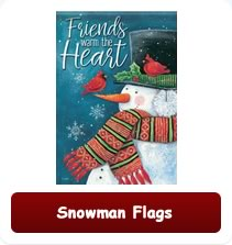 Decorative Christmas Snowman Flags