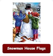 Snowman House Flags