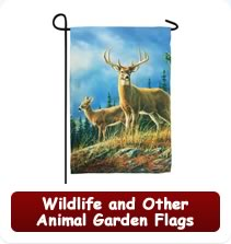 Wildlife and Other Animal Garden Flags