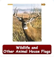 Wildlife and Other Animal House Flags