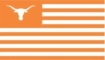 Texas Longhorn Applique 3x5 Striped Style Flag