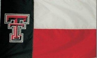 Texas Tech 3x5 State Style Applique Flag