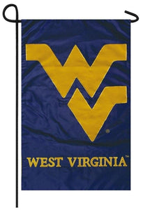 West Virginia Mountaineers Applique Garden Flag - Sports Flags/College and University/West Virginia University Flags - I AmEricas Flags