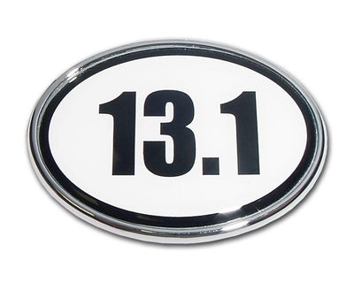 13.1 Half Marathon Chrome Car Emblem