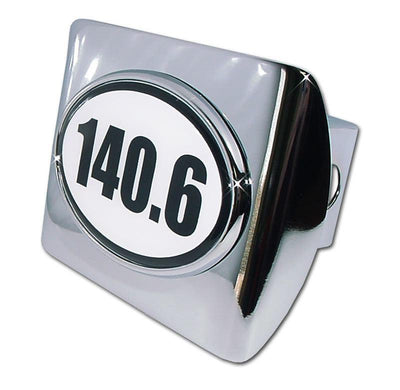 140.6 Ironman Triathlon Shiny Chrome Hitch Cover