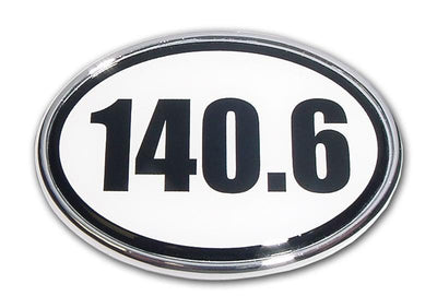140.6 Ironman Triathlon Chrome Car Emblem