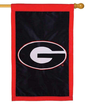 Georgia Bulldogs Applique House Flag