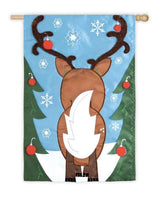 Santa's Little Reindeer Helper House Flag