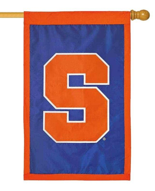 Syracuse University Applique House Flag