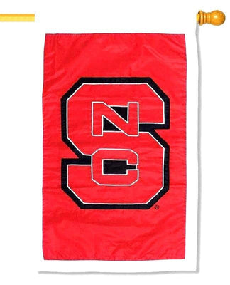 NC State University Applique House Flag