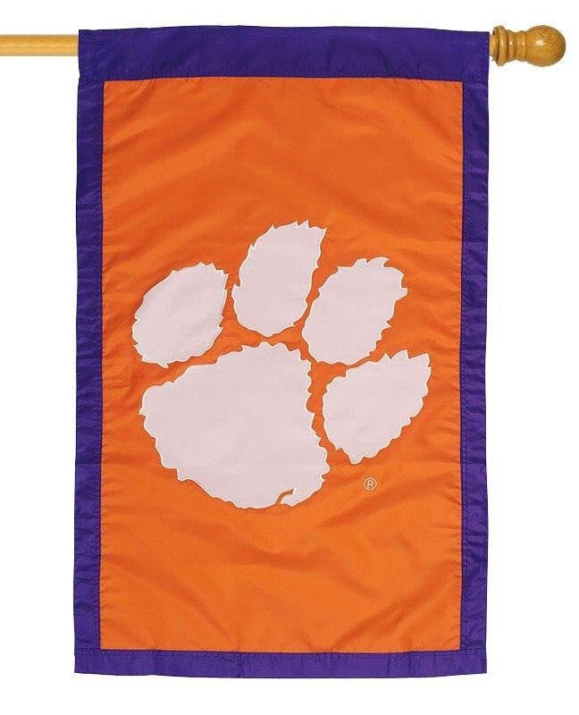 Clemson University Applique House Flag