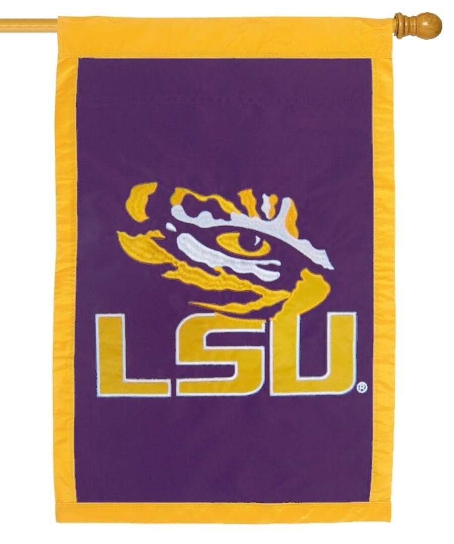 LSU Tiger Eye Applique House Flag