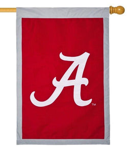 University of Alabama A Applique House Flag
