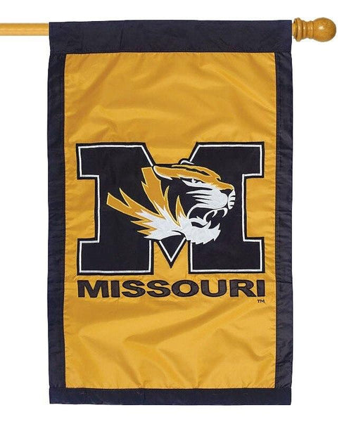 University of Missouri Applique House Flag