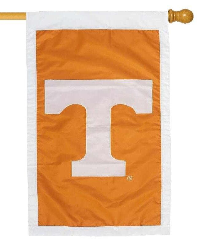 University of Tennessee Volunteers Applique House Flag