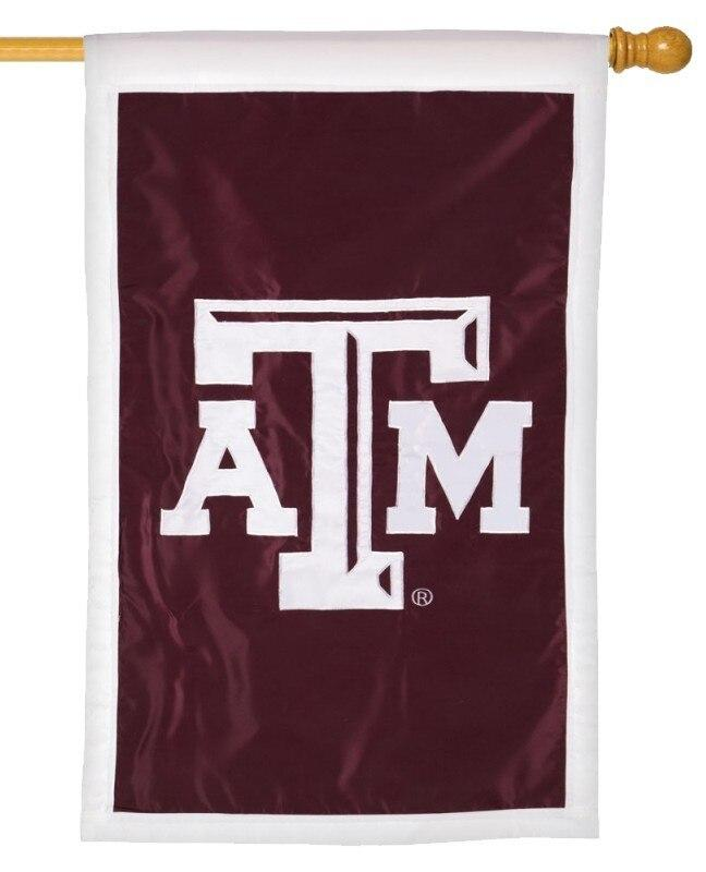 Texas A&M Applique House Flag