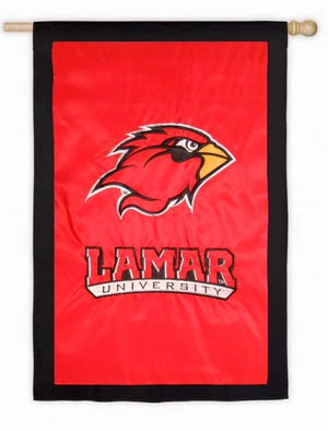 Lamar University Applique House Flag