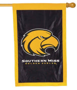 Southern Miss Golden Eagle Applique House Flag