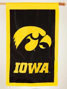 University of Iowa Hawkeyes Applique House Flag