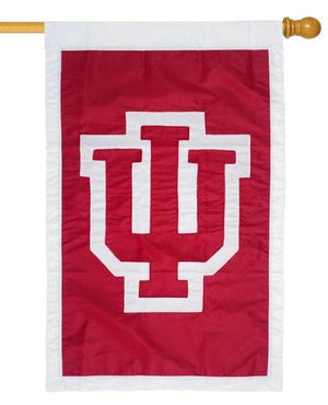 Indiana University Applique House Flag