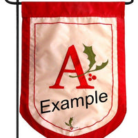 Holiday Monogram X Garden Flag - All Decorative Flags/Monogram Flags - I AmEricas Flags