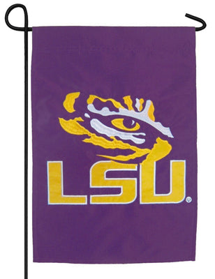 LSU Tiger Eye Applique Garden Flag