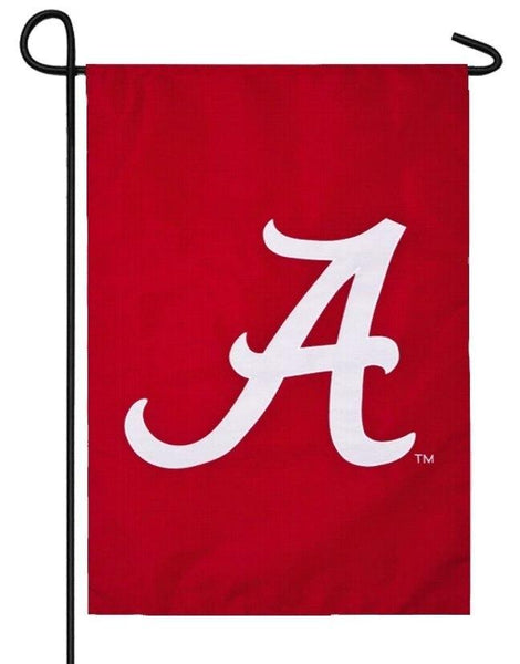 University of Alabama A Applique Garden Flag