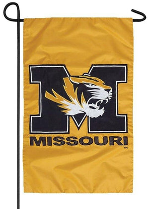 University of Missouri Applique Garden Flag