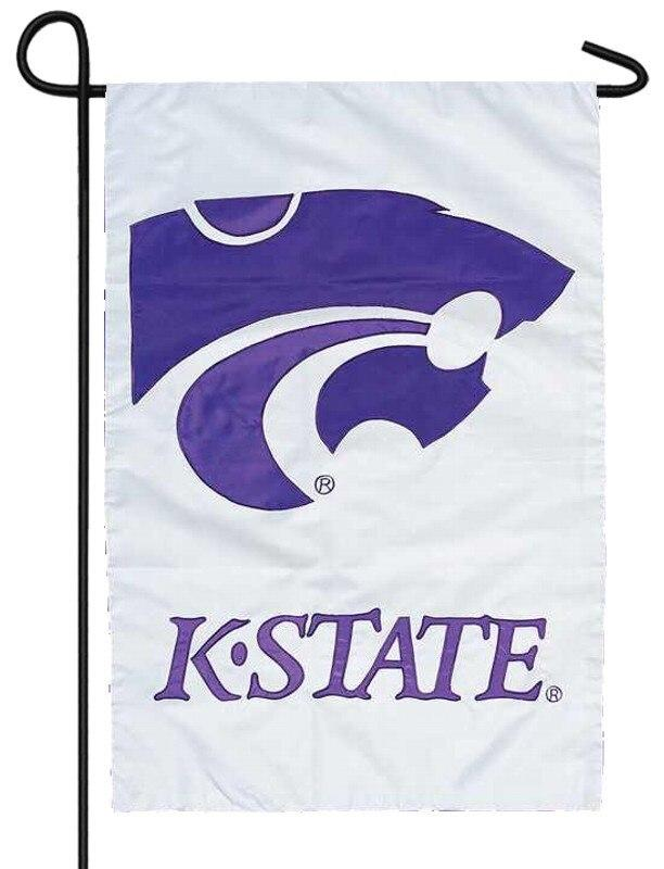 K State University Powercat Applique Garden Flag