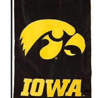 University of Iowa Hawkeyes Applique Garden Flag