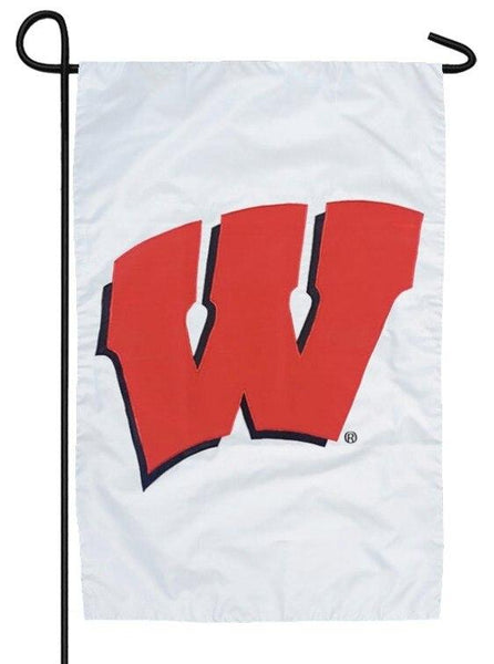 Wisconsin Badgers Applique Garden Flag