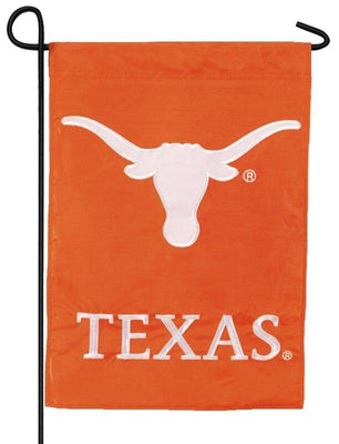 Texas Longhorns Applique Garden Flag