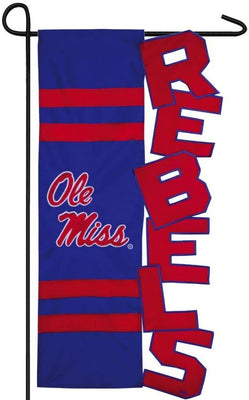 University of Mississippi Rebels Sculpted Garden Flag