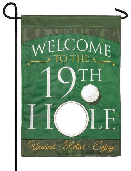 19th Hole Double Applique Garden Flag