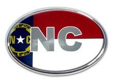 North Carolina Oval Car Emblem