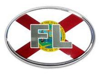 Florida Oval Car Emblem