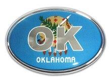 Oklahoma Oval Car Emblem