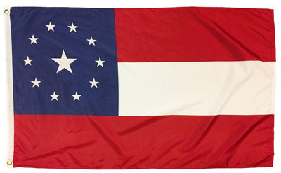 1st National Confederate Flag 3x5 Printed Polyester 11 Stars