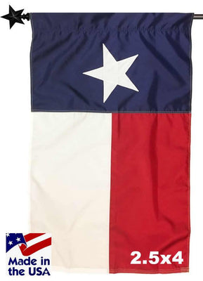 2.5ft x 4ft Texas House Flag with Pole Sleeve Sewn Nylon