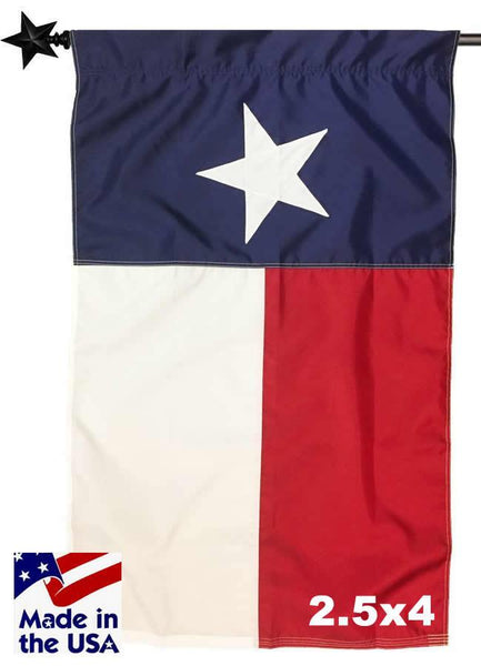 2.5ft x 4ft Texas House Flag with Pole Sleeve Sewn Nylon - Texas Flags - I AmEricas Flags