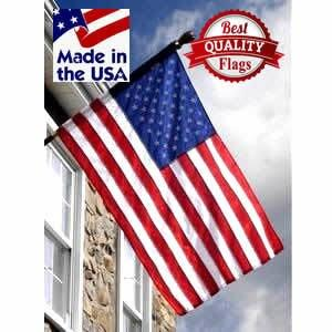 2.5' x 4' 2 Ply Polyester American House Flag with Pole Sleeve